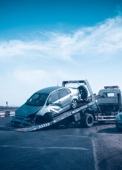 Car on a tow truck